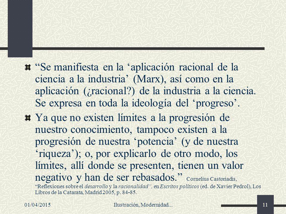 Ilustración, Modernidad...