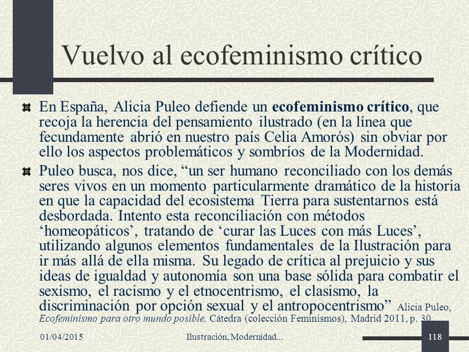 Vuelvo al ecofeminismo crítico