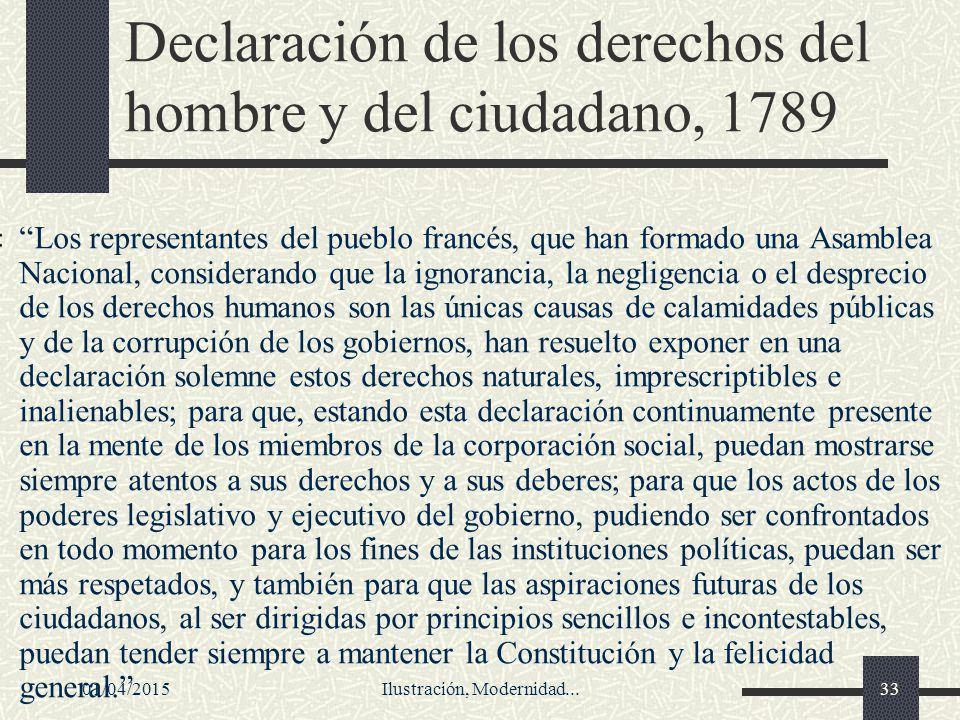 Declaración de los derechos del hombre y del ciudadano, 1789