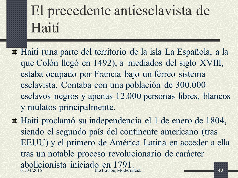 El precedente antiesclavista de Haití