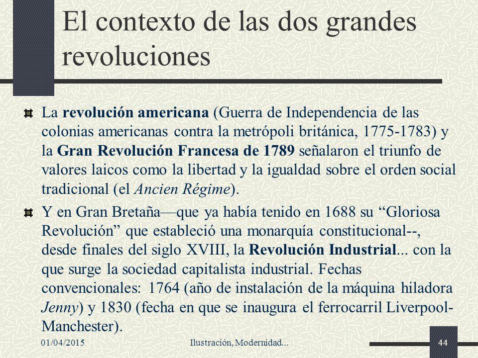 El contexto de las dos grandes revoluciones