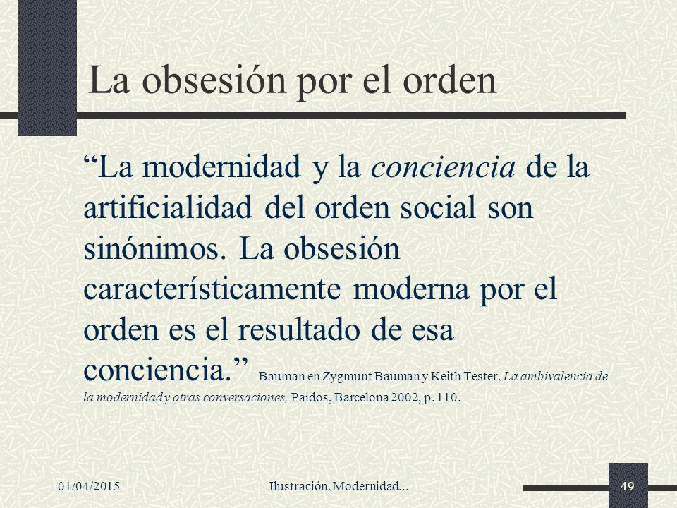 La obsesión por el orden