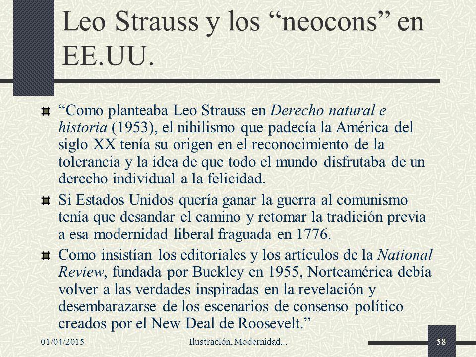 Leo Strauss y los neocons en EE.UU.