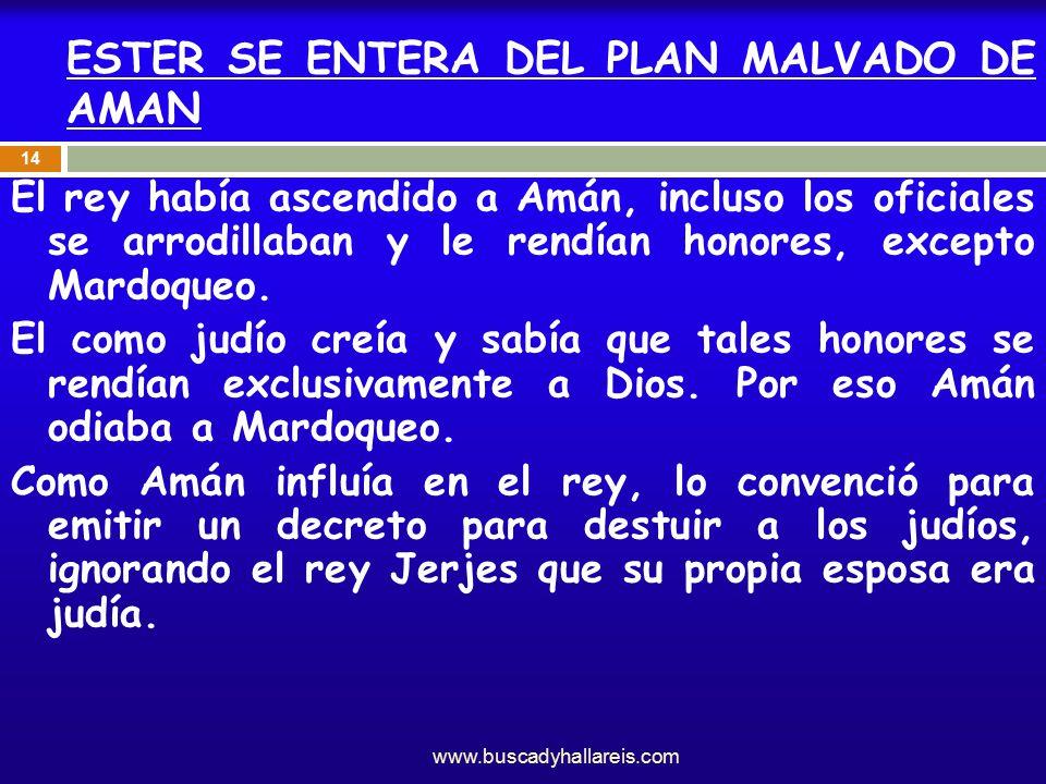 ESTER SE ENTERA DEL PLAN MALVADO DE AMAN