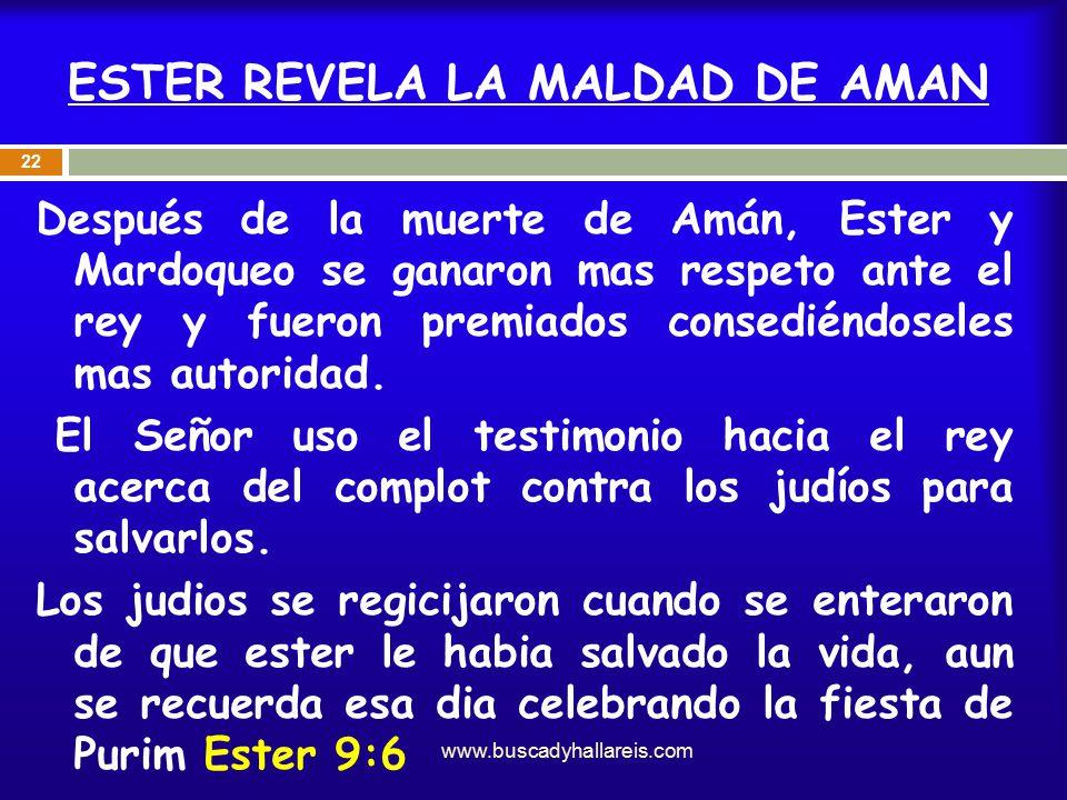 ESTER REVELA LA MALDAD DE AMAN