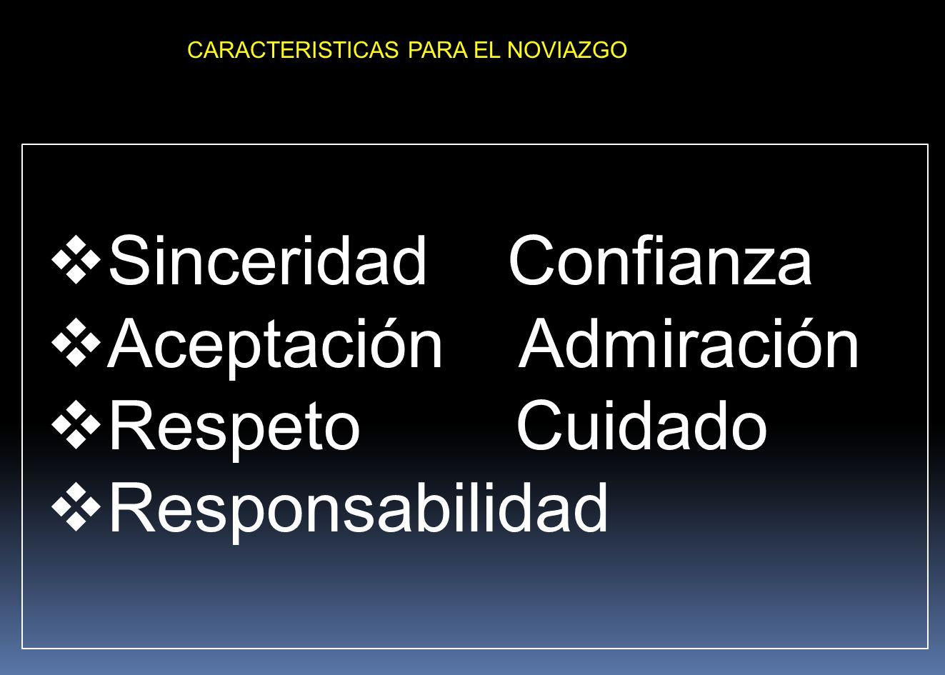 CARACTERISTICAS PARA EL NOVIAZGO