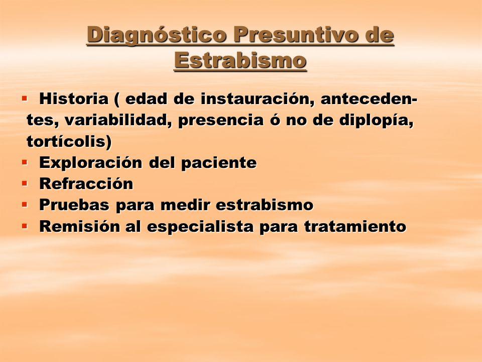 Diagnóstico Presuntivo de Estrabismo