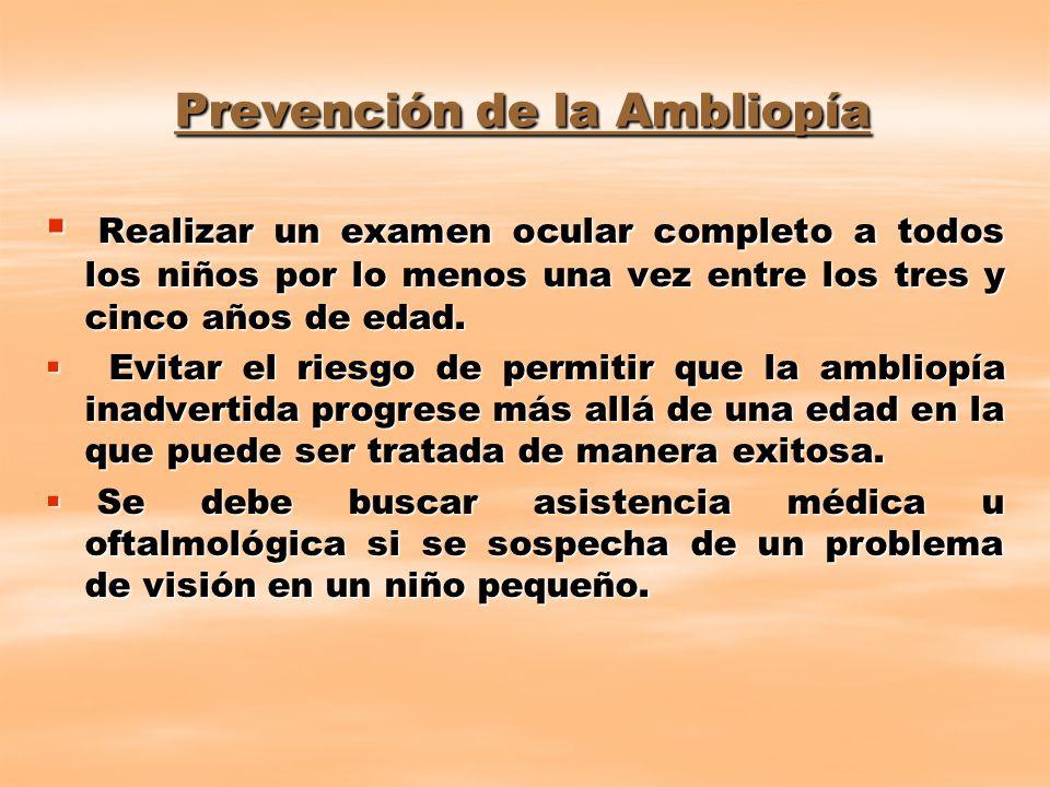 Prevención de la Ambliopía