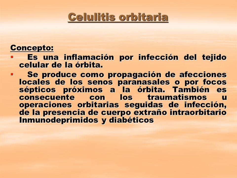Celulitis orbitaria Concepto: