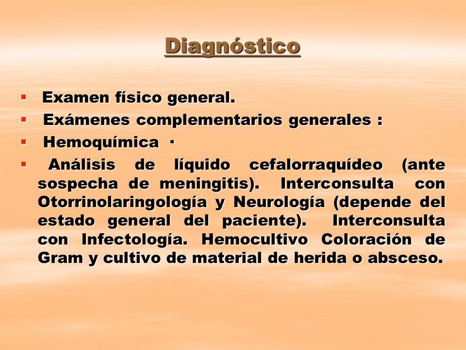 Diagnóstico Examen físico general.