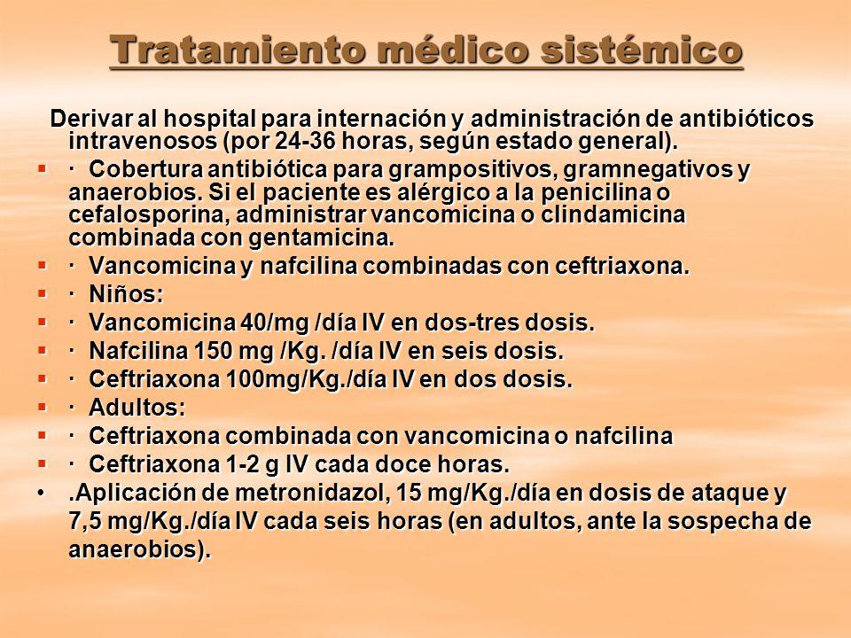 Tratamiento médico sistémico