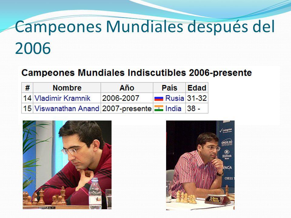 Campeones Mundiales después del 2006