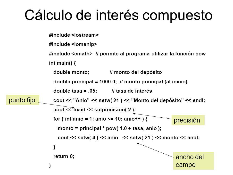 Cálculo de interés compuesto
