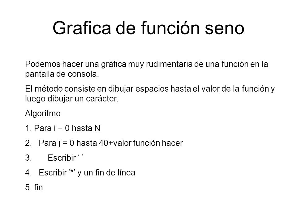 Grafica de función seno