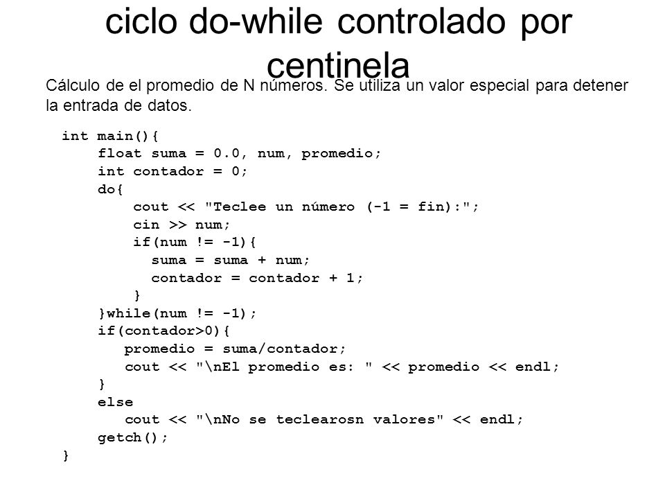 ciclo do-while controlado por centinela