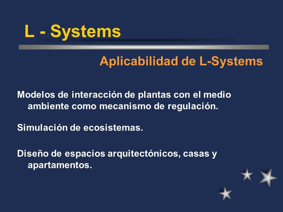 L - Systems Aplicabilidad de L-Systems
