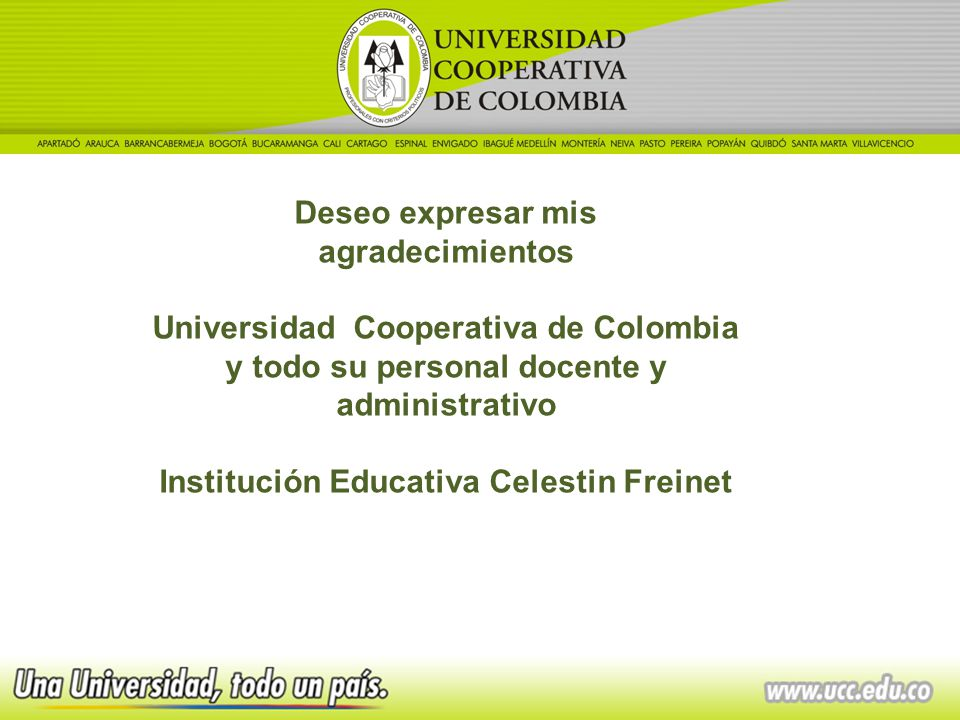Institución Educativa Celestin Freinet