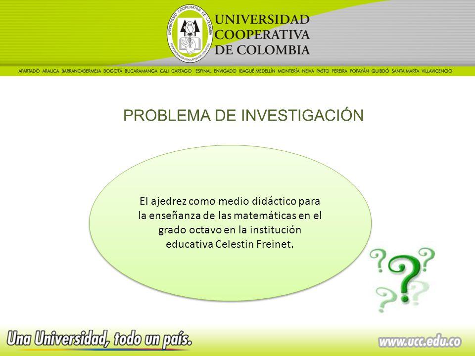 PROBLEMA DE INVESTIGACIÓN