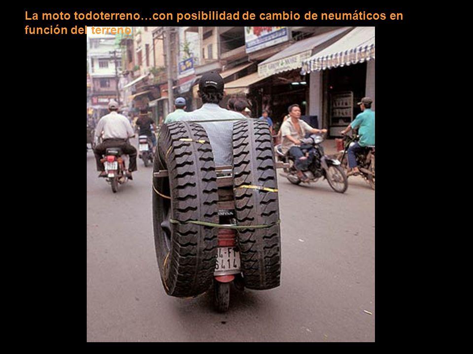 La moto todoterreno…con posibilidad de cambio de neumáticos en función del terreno