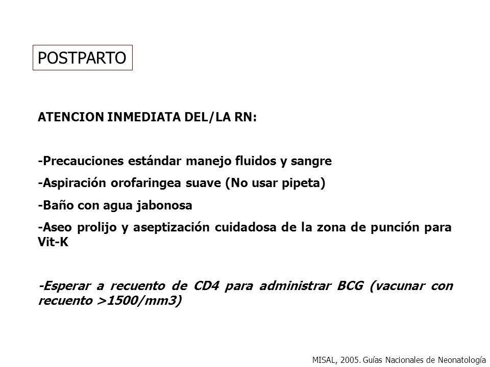 POSTPARTO ATENCION INMEDIATA DEL/LA RN: