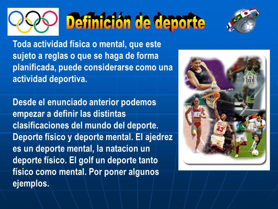Definición de deporte