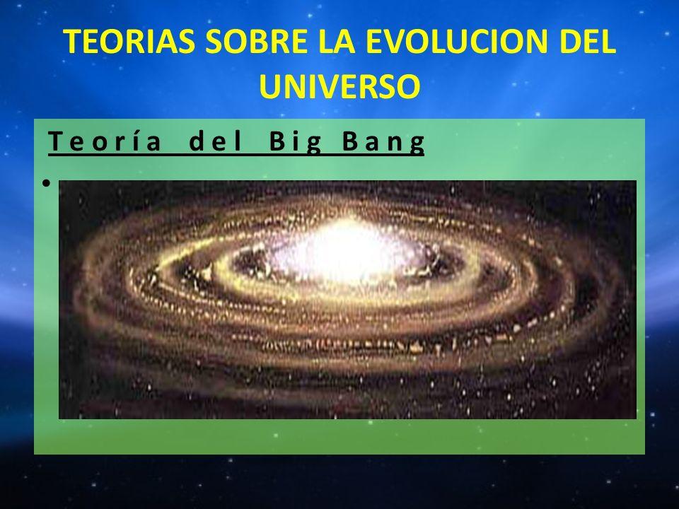 TEORIAS SOBRE LA EVOLUCION DEL UNIVERSO