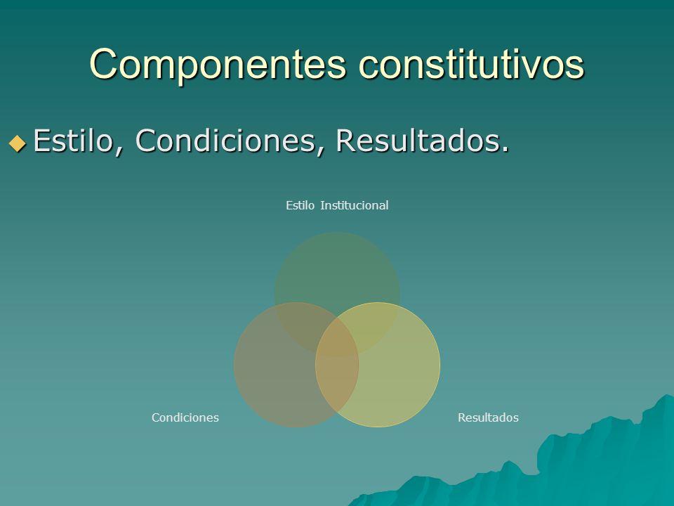 Componentes constitutivos