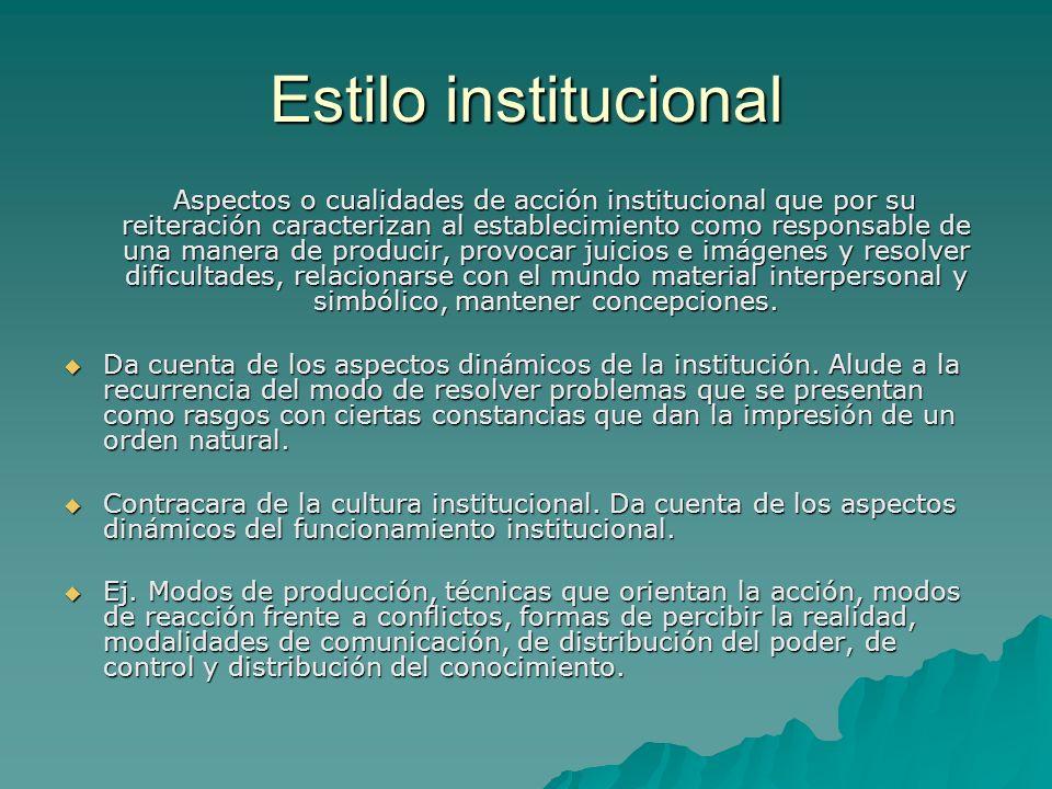 Estilo institucional
