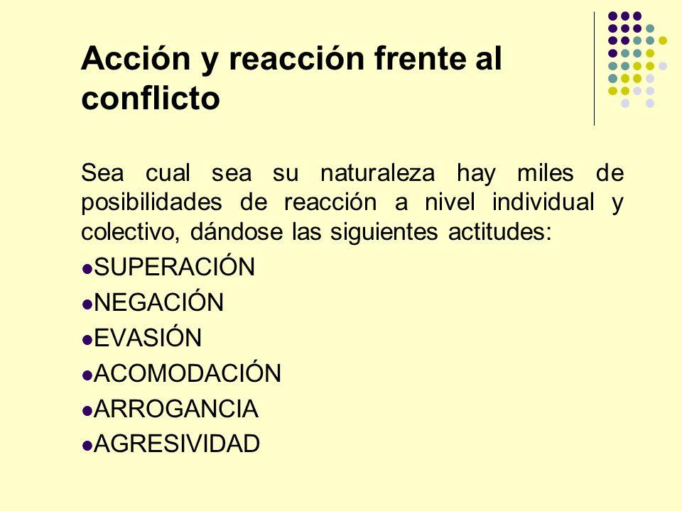 Acción y reacción frente al conflicto