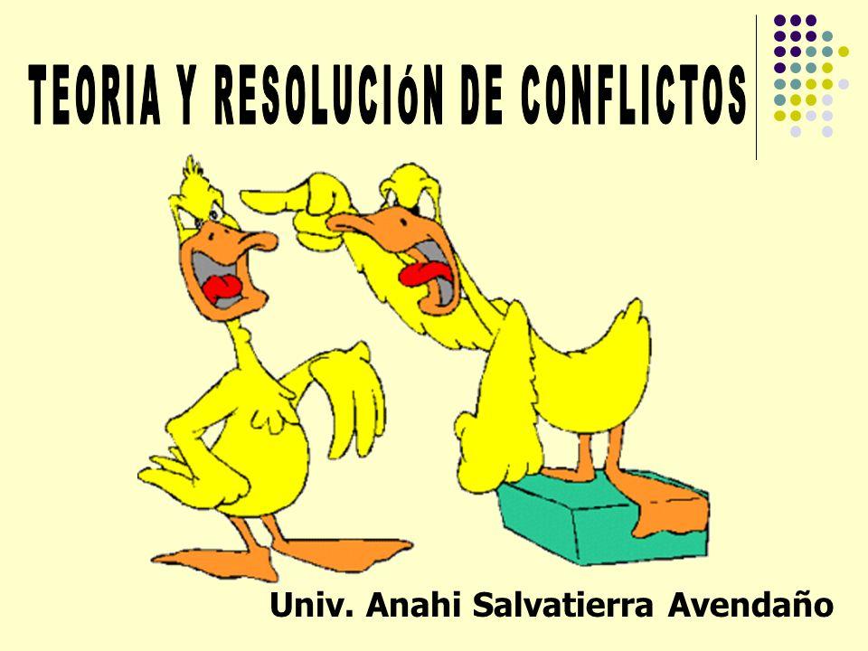 TEORIA Y RESOLUCIÓN DE CONFLICTOS