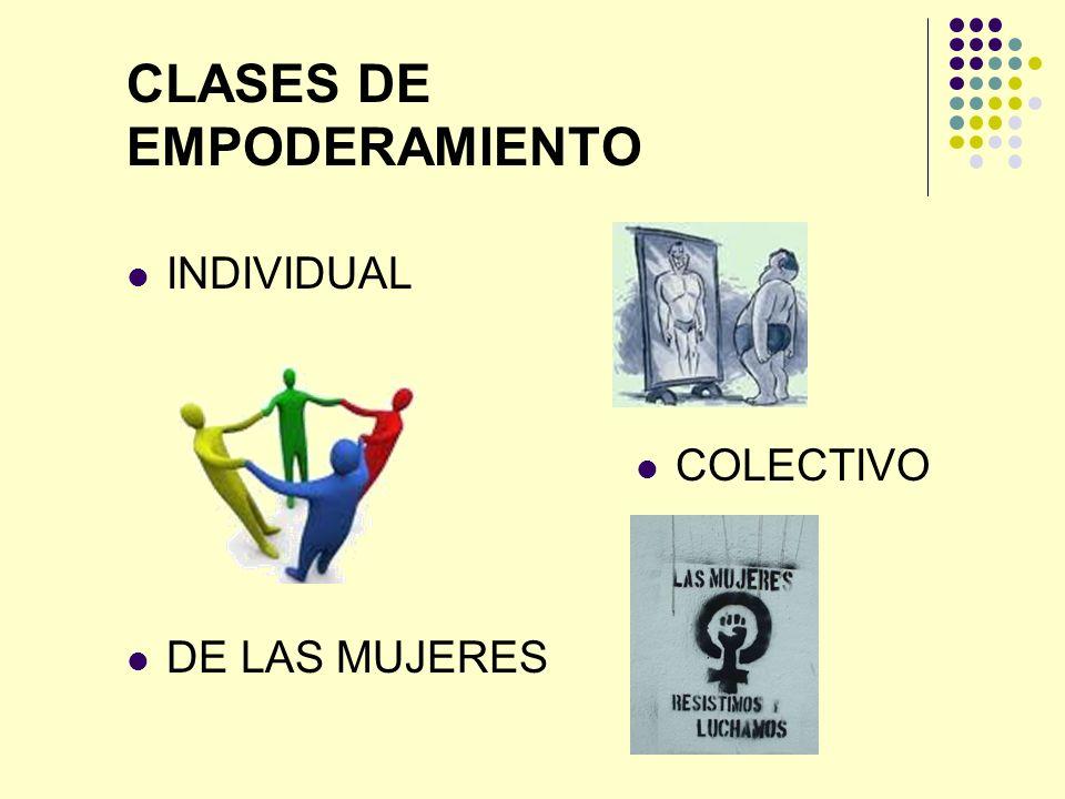 CLASES DE EMPODERAMIENTO