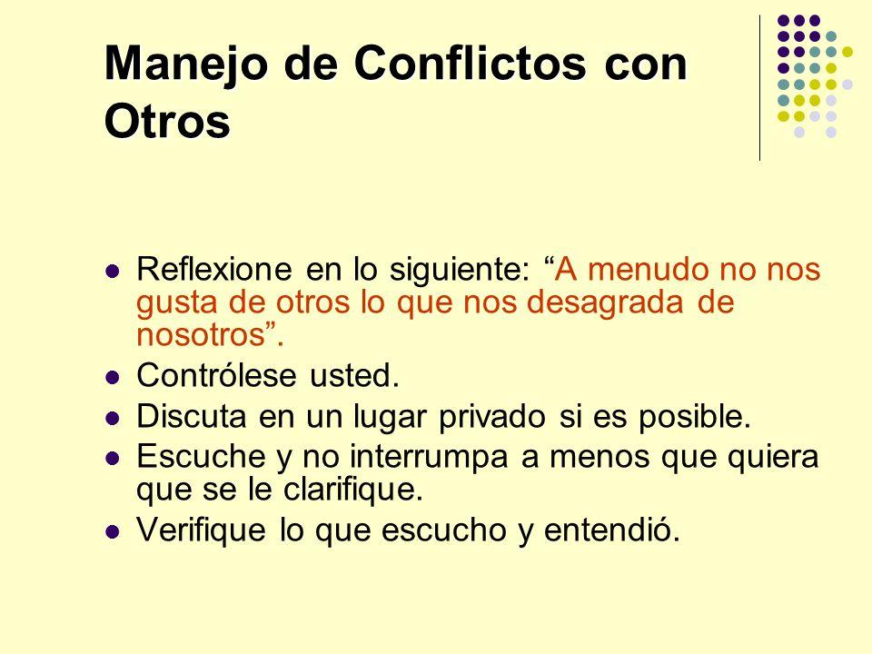 Manejo de Conflictos con Otros