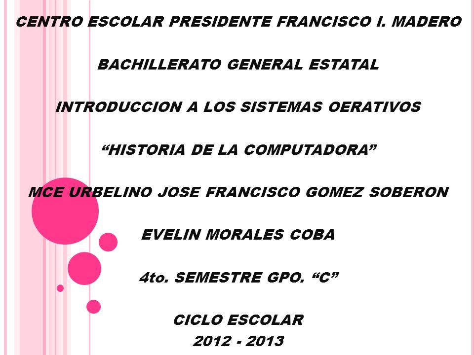 CENTRO ESCOLAR PRESIDENTE FRANCISCO I. MADERO