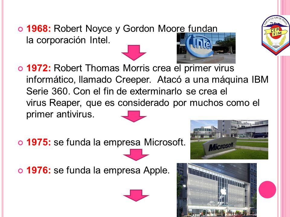 1968: Robert Noyce y Gordon Moore fundan la corporación Intel.