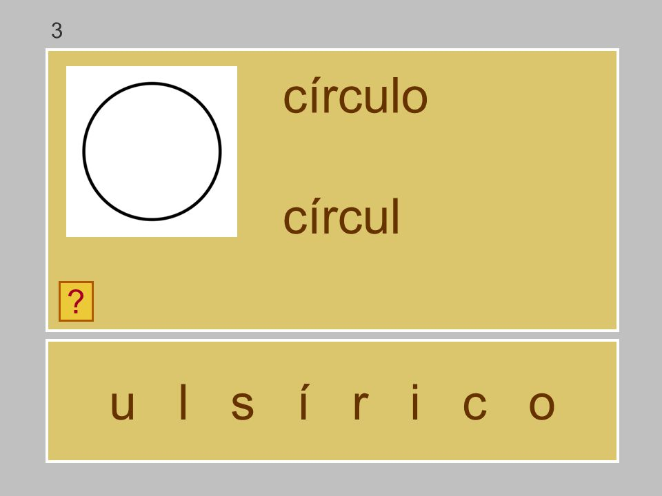 3 círculo círcul u l s í r i c o