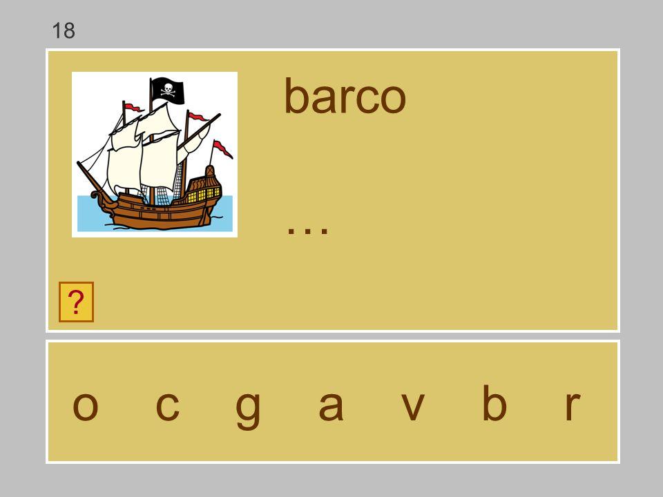 18 barco … o c g a v b r