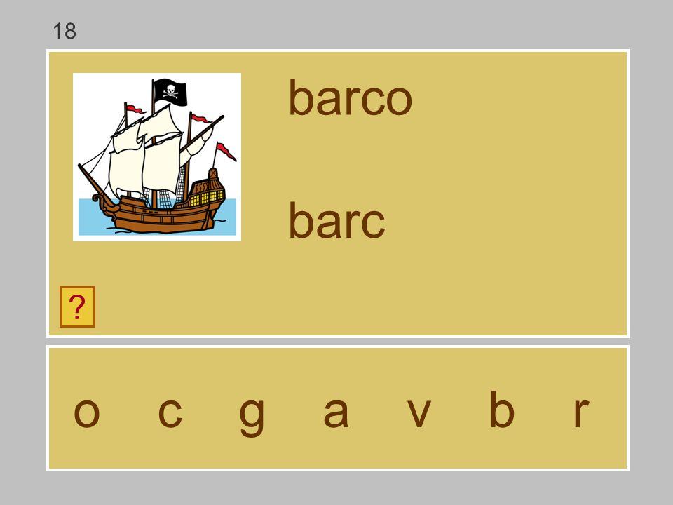 18 barco barc o c g a v b r