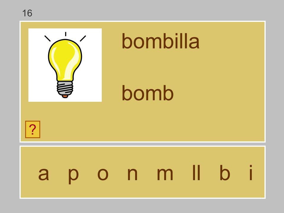 16 bombilla bomb a p o n m ll b i