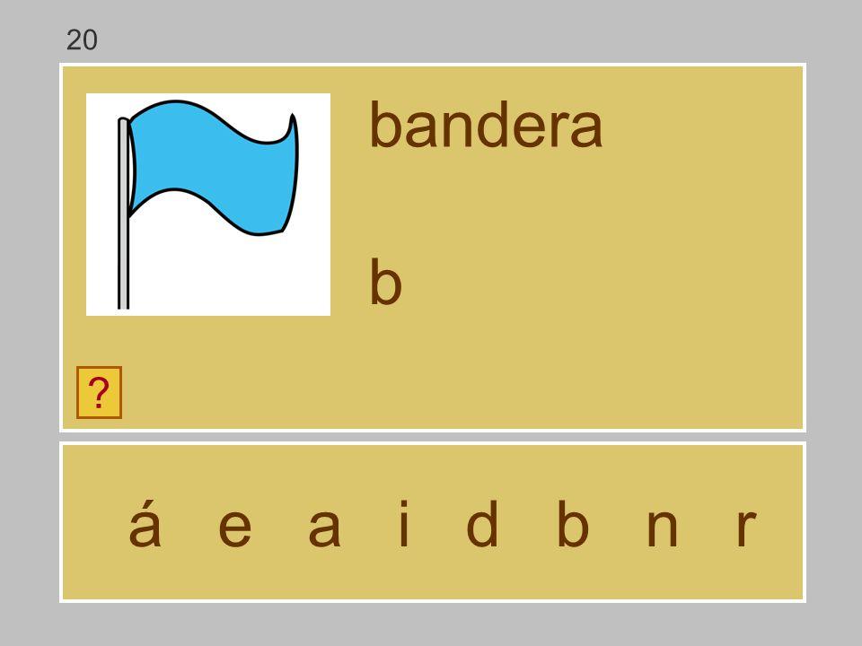 20 bandera b á e a i d b n r