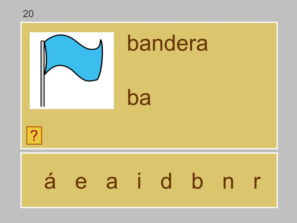 20 bandera ba á e a i d b n r