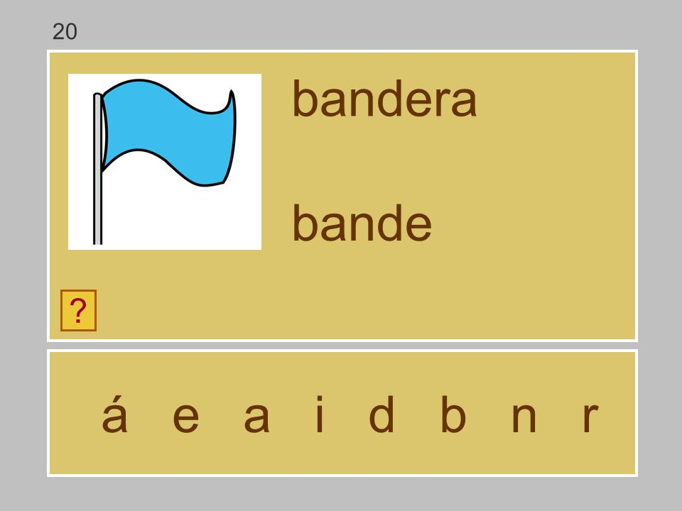 20 bandera bande á e a i d b n r