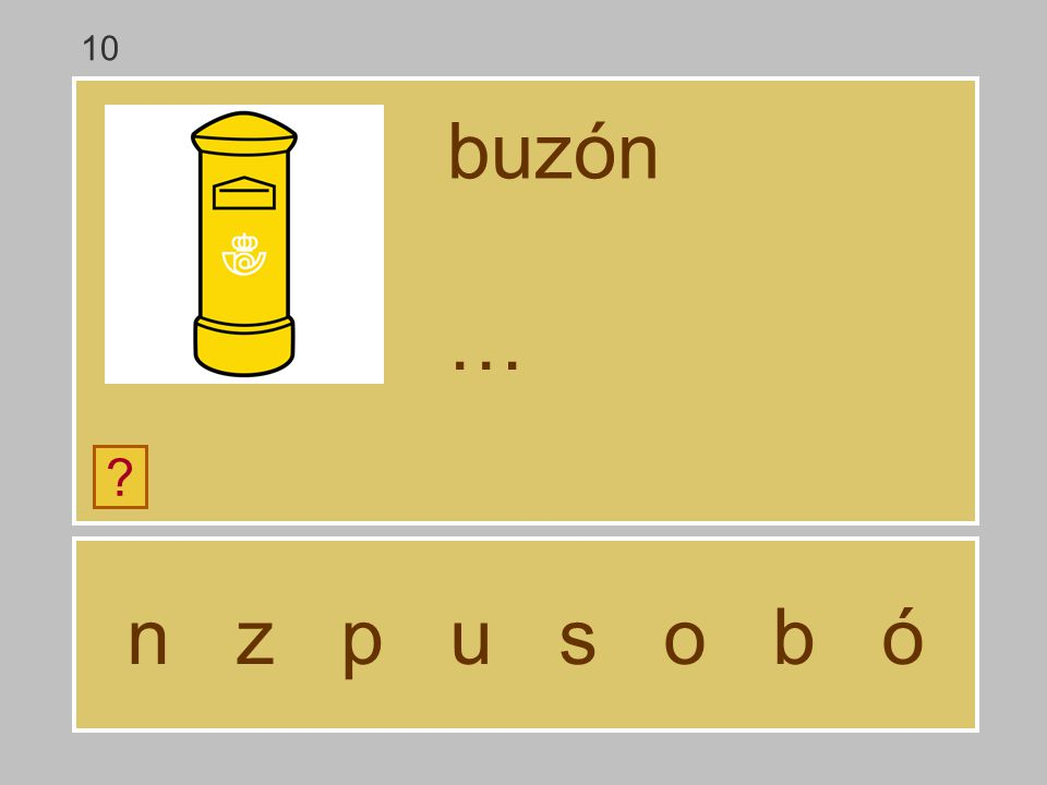 10 buzón … n z p u s o b ó