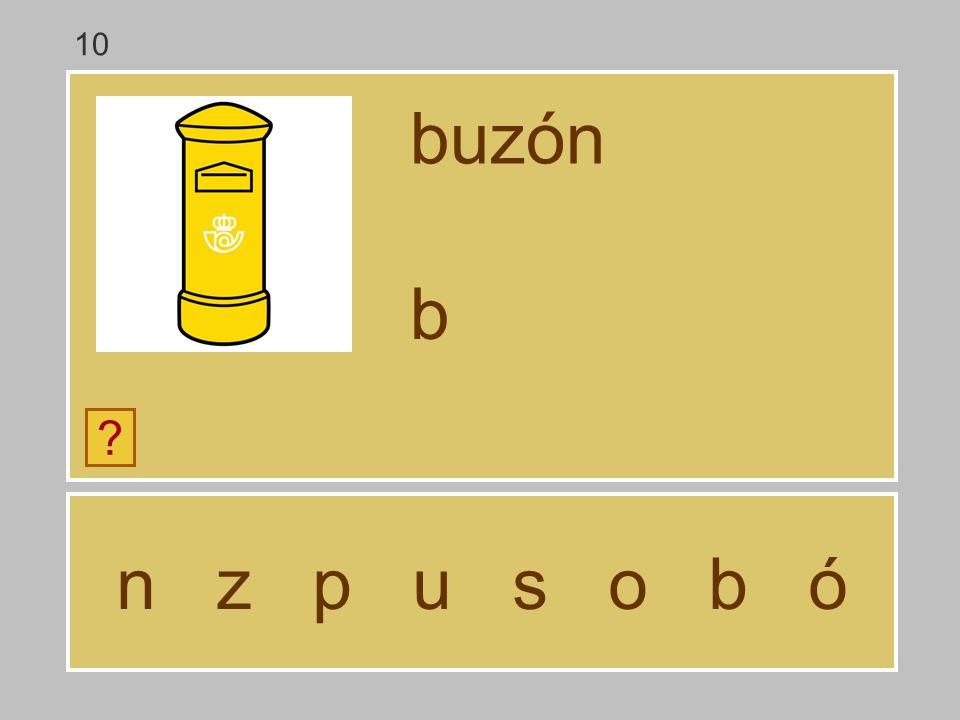 10 buzón b n z p u s o b ó