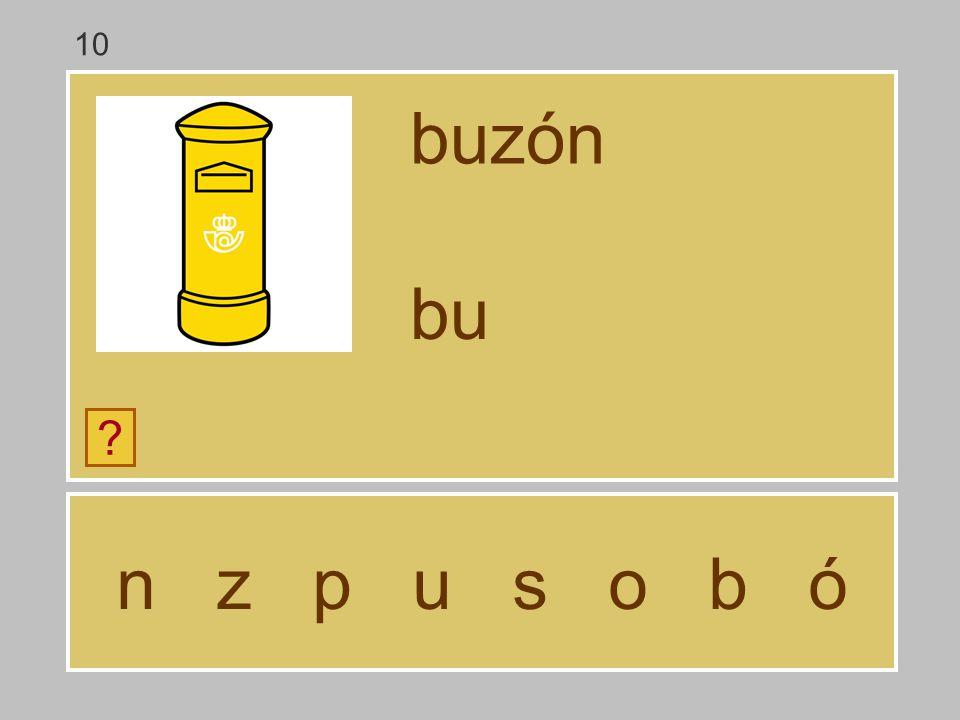 10 buzón bu n z p u s o b ó
