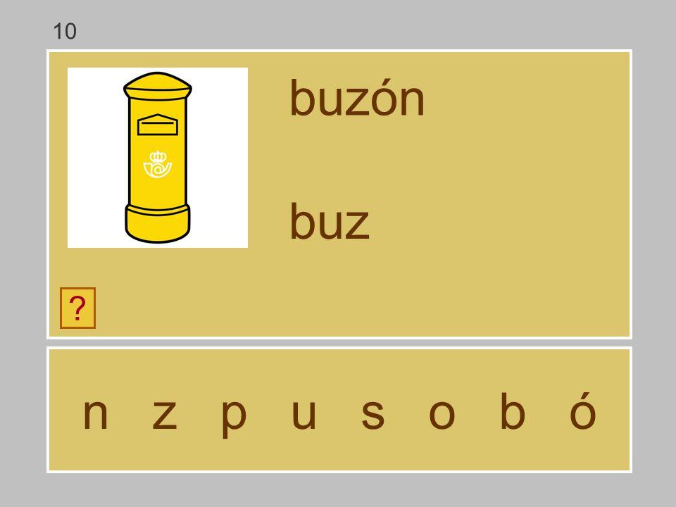 10 buzón buz n z p u s o b ó