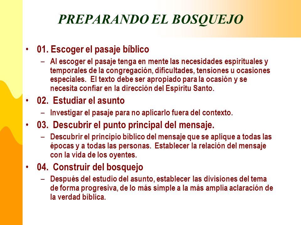 PREPARANDO EL BOSQUEJO
