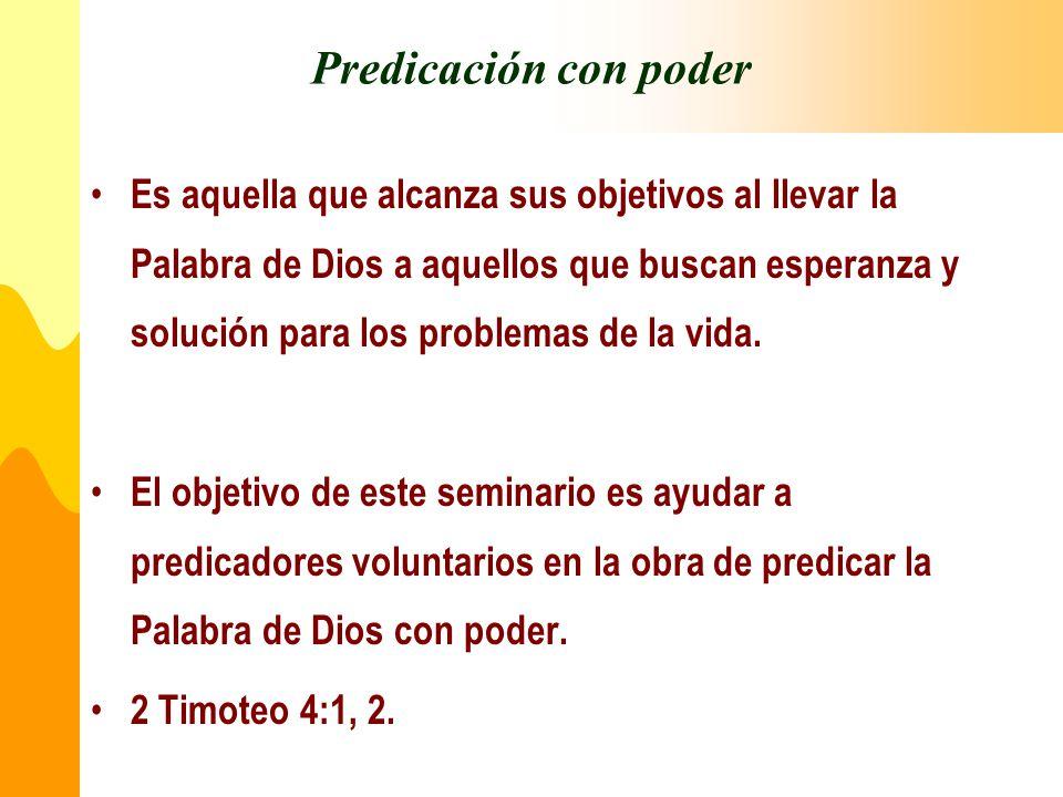 Predicación con poder