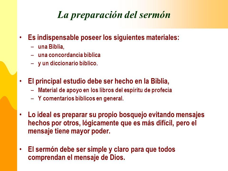 La preparación del sermón