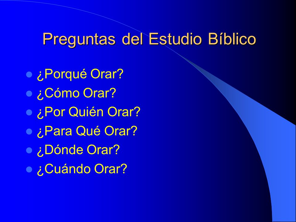 Preguntas del Estudio Bíblico