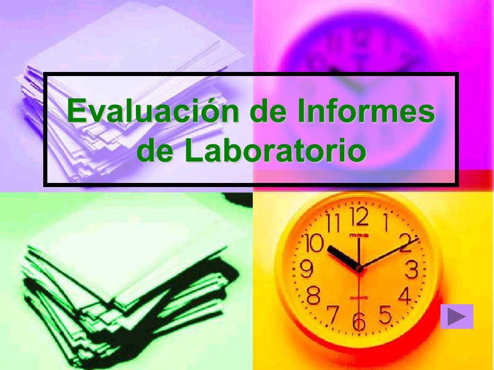 Evaluación de Informes de Laboratorio